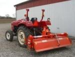 Traktor med fræser